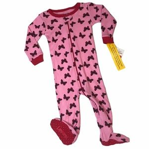 🔥3 for - $15 Leveret Pink Butterfly Pajama Footie